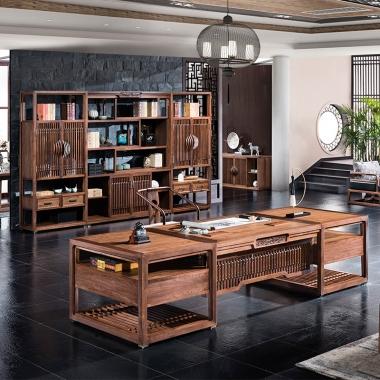 实木办公桌老板桌总裁办公桌