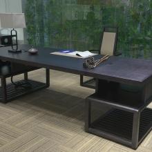 油漆老板桌大班台 实木大班桌