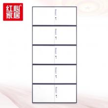 【红心家居】钢制办公文件柜铁皮柜带锁档案柜财务凭证柜分体五节档案柜 分体五节柜