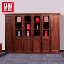 【红心家居】办公家具文件柜6门书柜贴木皮带挂衣服衣柜办公室资料柜 六门