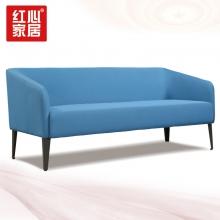 【红心家居】现代简约休闲三人位沙发办公室布艺沙发 三人位布艺沙发